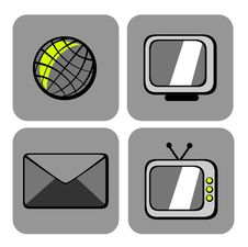 Website And Internet Icons Royalty Free Stock Image