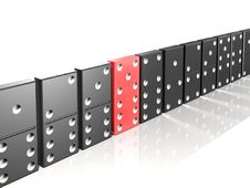 Free Dominous Pieces Formulated In Line. One Is Red Royalty Free Stock Photo - 7986635