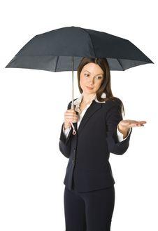 Free Beautiful Business Woman Holding A Umbrella Stock Photos - 7987383