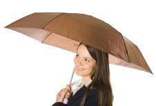 Free Beautiful Business Woman Holding A Umbrella Royalty Free Stock Photos - 7987388