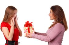 Free Two Women With Box Royalty Free Stock Photography - 7987787