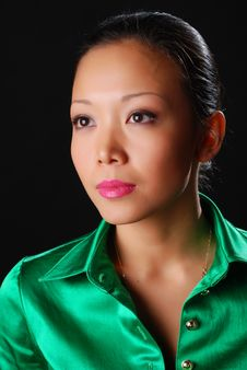 Free Woman In Green Shirt Stock Photography - 7987832