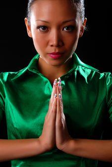 Free Woman In Green Shirt Stock Photos - 7987893