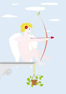 Free Cupid For St. Valentine S Day Royalty Free Stock Photos - 7987918