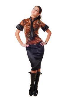 Free Beautiful Brunet Woman Stock Image - 7987951