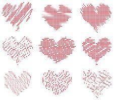 Mosaic Hearts Royalty Free Stock Images