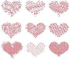 Mosaic Hearts Stock Photo