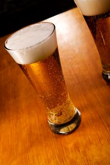 Free Two Beer Glasses, Focus On First Stock Image - 7988161