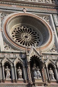 Architectural Details Of Cathedral In Florence Royalty Free Stock Images
