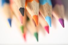Free Macro Pencil Cluster Points Down Right Stock Photos - 7988453