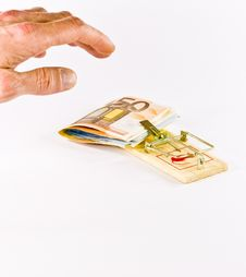 Free Hand Taking Hold Money With Trap Royalty Free Stock Photo - 7988525