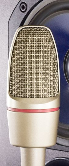 Microphone With Loudspeaker Stock Image