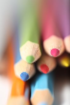 Free Macro Pencil Cluster Points At Viewer Stock Image - 7988541
