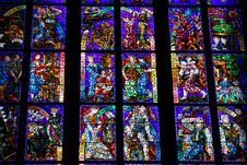 Free Stained-glass Window In St.Vitus Cathedral Stock Images - 7988554