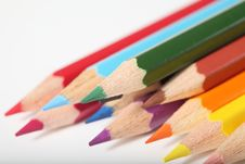 Free Macro Pencil Cluster Points Down Left Green Focus Stock Image - 7988581