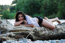 Free The Beautiful Girl Royalty Free Stock Image - 7988626