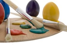 Painting Easter Egg Royalty Free Stock Photography