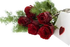 Free Red Roses With Envelope And Heart Royalty Free Stock Images - 7988709