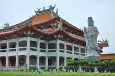 Buddha Statue With Temple Background Royalty Free Stock Images