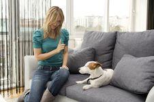 Free Dog Lover Royalty Free Stock Photos - 7989338