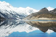 Free Snow Mountains And Lake Royalty Free Stock Photography - 7989347