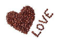 Free Heart Made Of Coffee Beans Royalty Free Stock Photos - 7989428