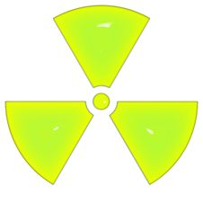 Free Sign Of Radioactivity Isolated On White Background Royalty Free Stock Image - 7989576