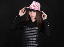 A Girl In A Nice Hat Royalty Free Stock Photography