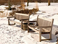 Free Snowy Benches Royalty Free Stock Photography - 7996287