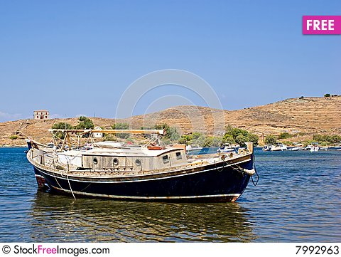 Traditional greek fishing boat free stock images for Free fishing boats