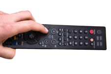 Hand Holding Remote Control. Stock Image