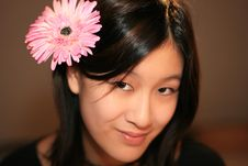Free Girl With Flower Stock Photography - 7990962