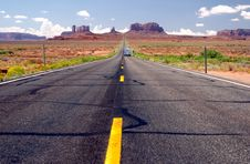 Monument Valley Welcomes Royalty Free Stock Photo