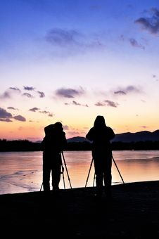 Free Photographer In Sunset Stock Images - 7991084