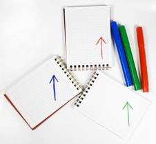 Free Three Notebooks Royalty Free Stock Image - 7991586