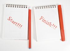 Two Open Notebook Royalty Free Stock Images