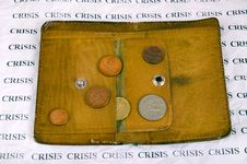 Crisis, Old Wallet And Coins
