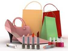 Free Pink Shoe And Handbag Royalty Free Stock Photos - 7991918