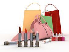 Free Pink Shoe And Handbag Stock Photography - 7991972