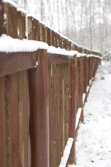 Free Fence Under Snow Royalty Free Stock Photo - 7992035