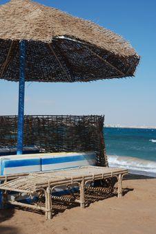 Free Umbrella On The Beach Stock Image - 7992451