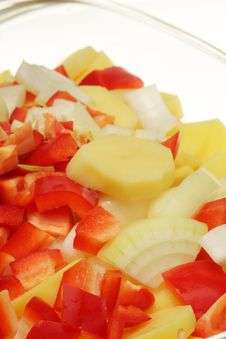 Free Chopped Vegetables. Royalty Free Stock Image - 7992476