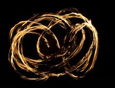 Free Fire Dancer In The Dark Stock Photography - 7993112