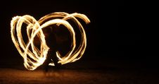 Free Fire Dancer In The Dark Royalty Free Stock Image - 7993116