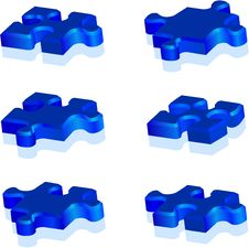Free Jigsaw Puzzle Pieces Royalty Free Stock Photo - 7993195