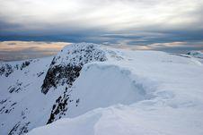 Free Snowy Mountain Cornice Royalty Free Stock Photography - 7993327