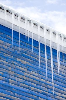 Free Icicles On A Roof Royalty Free Stock Photography - 7993497