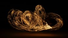 Free Fire Dancer In The Dark Royalty Free Stock Images - 7994469