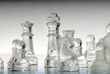 Free Chess King Standing With Other Pieces Royalty Free Stock Photography - 7994847