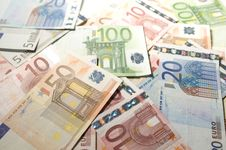 Euro Bank-notes Royalty Free Stock Photo